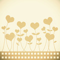 Old Recycle paper valentine flower background for romance, weddi