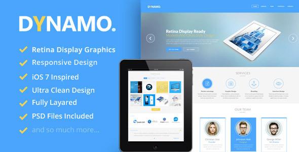 ThemeForest Dynamo Retina Onepage WordPress Theme 5872018