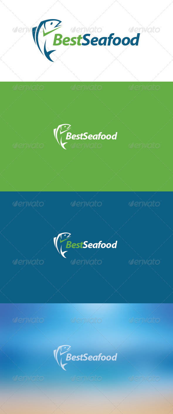 GraphicRiver Best Seafood Logo 5872034