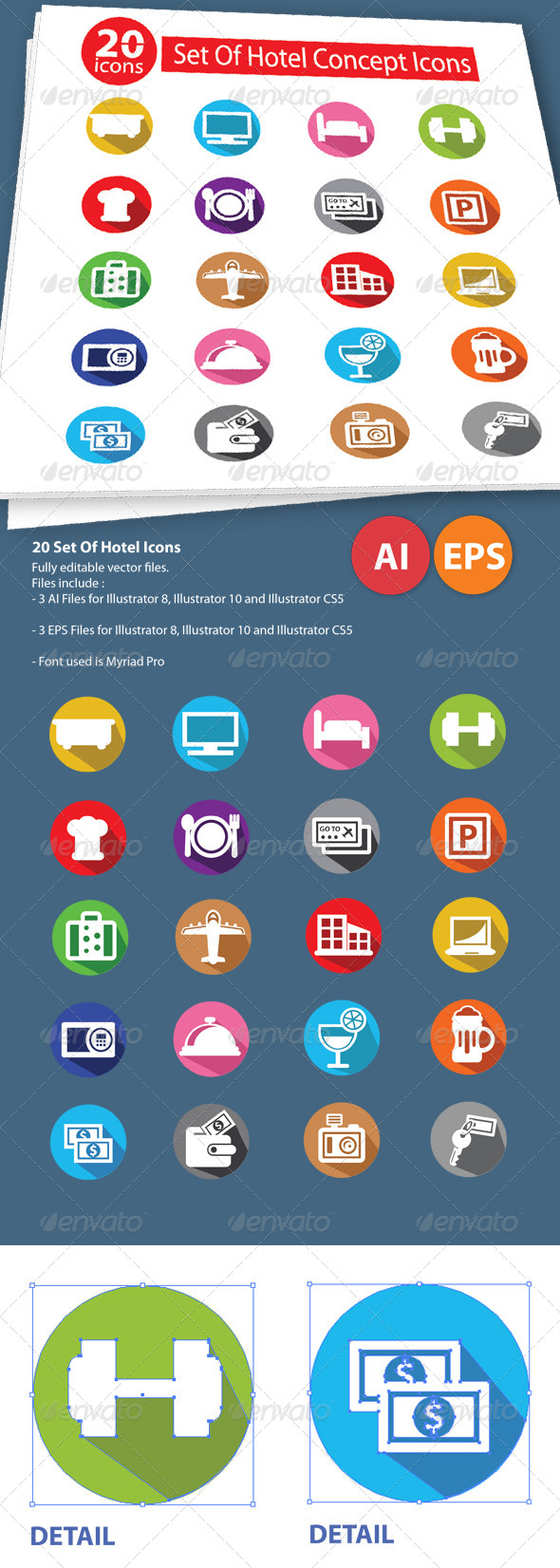 GraphicRiver 20 Set Of Hotel Icons 5872041