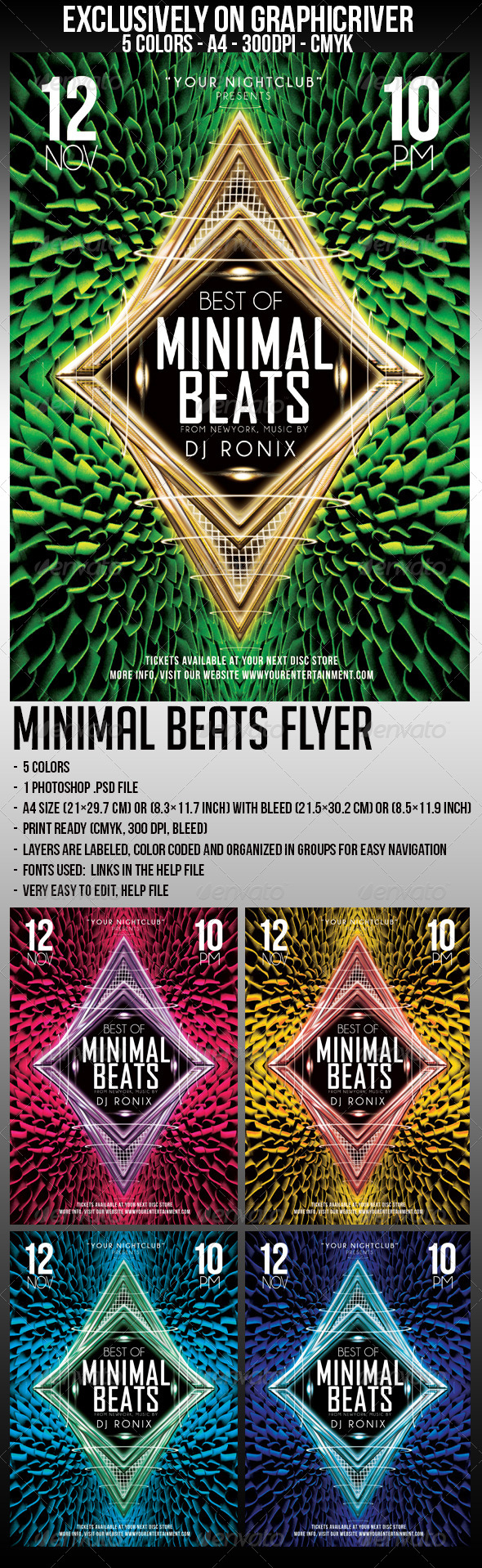 GraphicRiver Minimal Beats Flyer 5872238