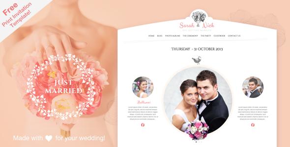 The Wedding Day Responsive Theme - Wedding WordPress