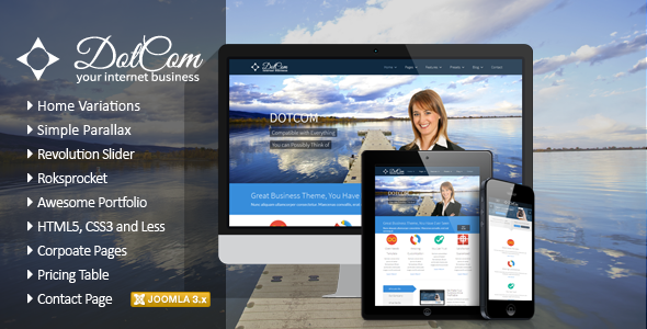 ThemeForest DotCom Responsive Joomla Corporate Template 5872413