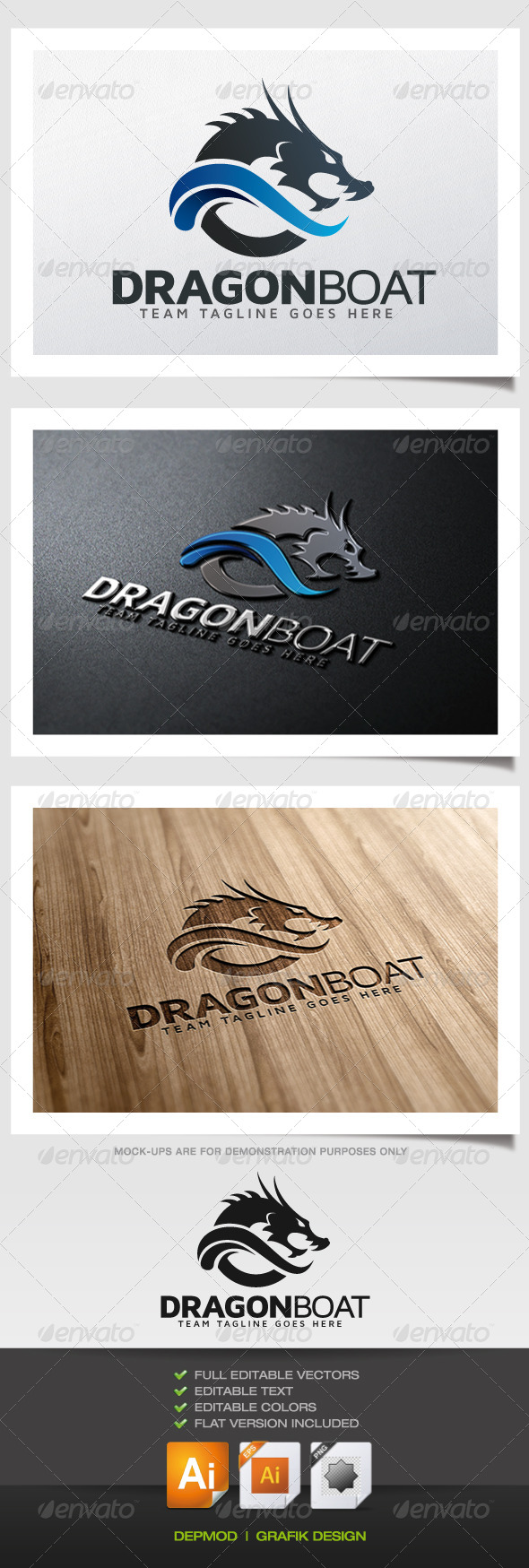 GraphicRiver Dragon Boat Logo 5872440