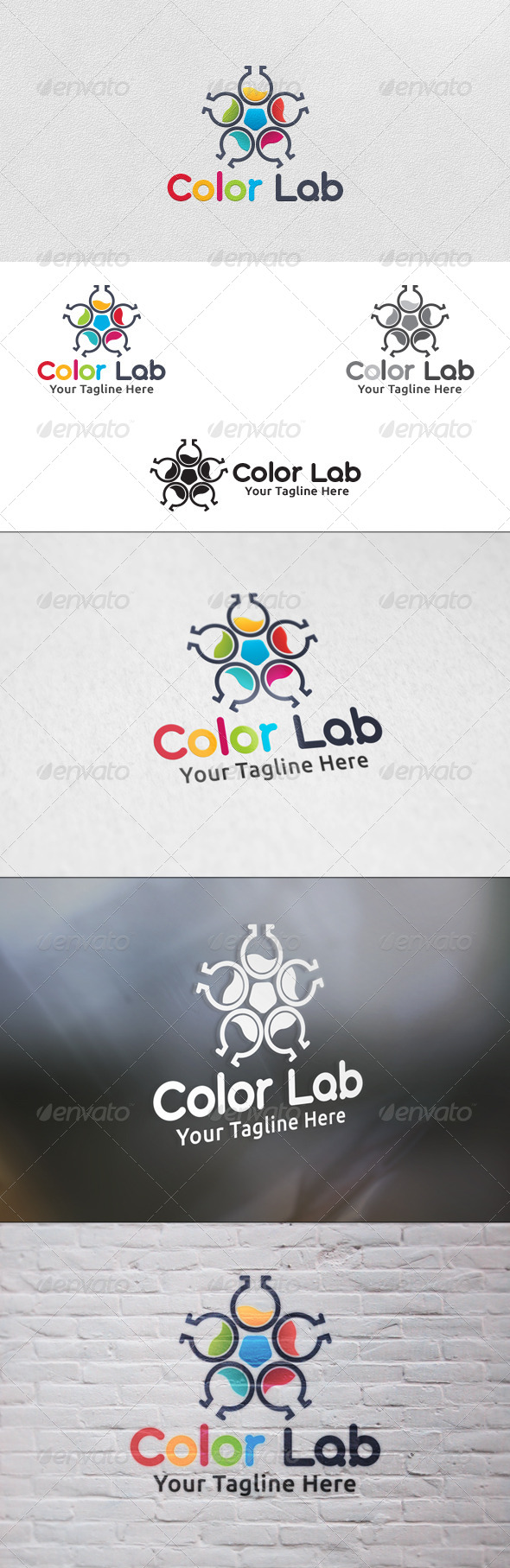 Color Lab Logo Template