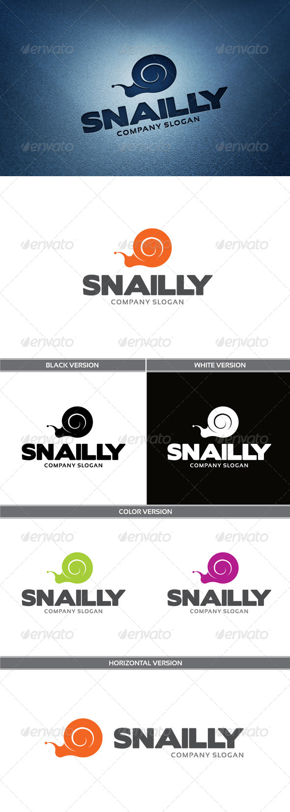 GraphicRiver Snailly Logo 5872710
