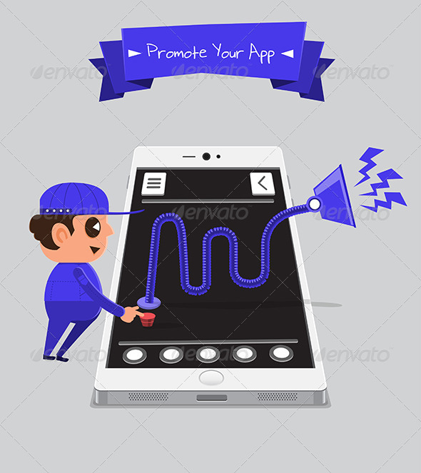 GraphicRiver Technician Promoting App 5871571