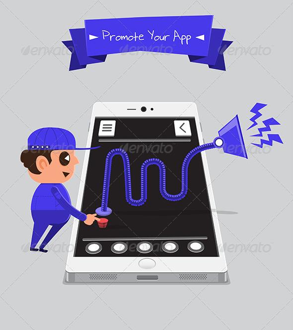 GraphicRiver Technician Promoting App 5871571