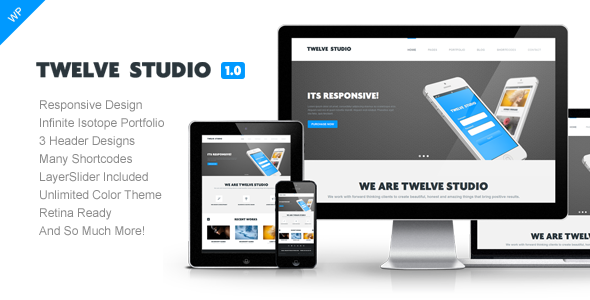 Twelve Studio - WordPress Responsive Theme