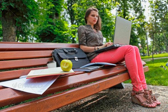 Eat Fresh While Studying - Stock Photo - Images