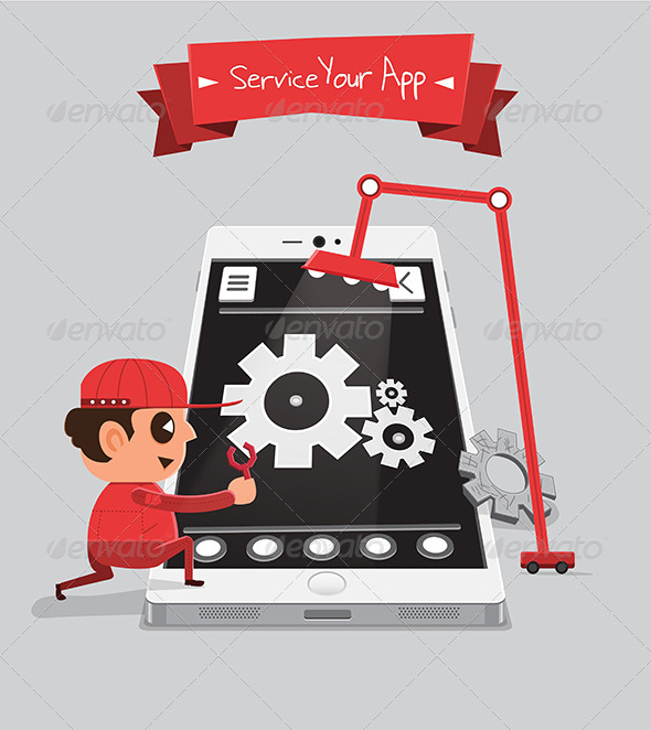 GraphicRiver Technician Servicing or Repairing App 5871577