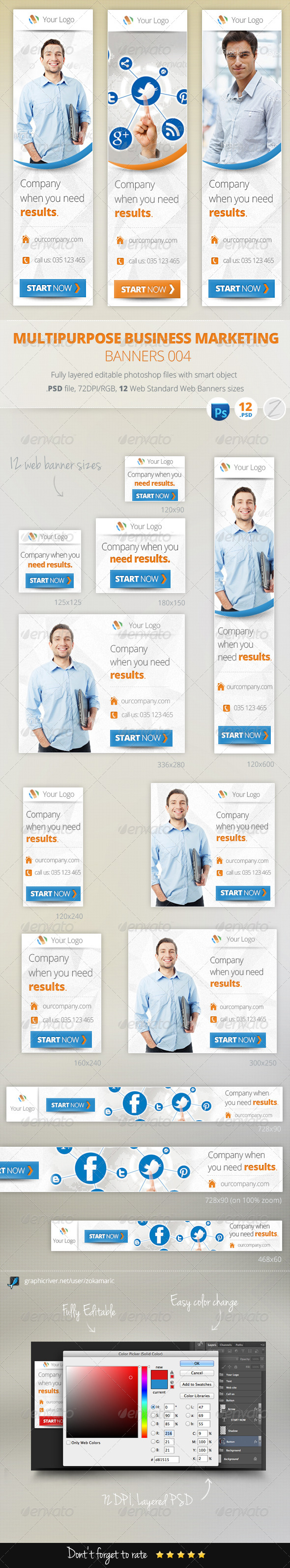 GraphicRiver Multipurpose Business Marketing Banners 004 5873063