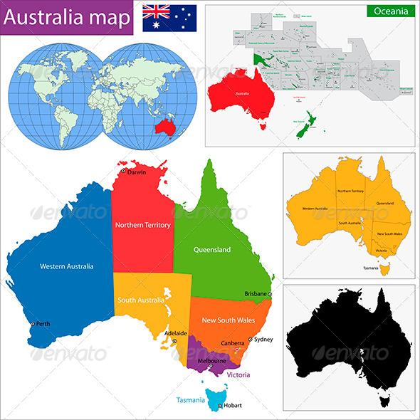 GraphicRiver Australia Map 5873714