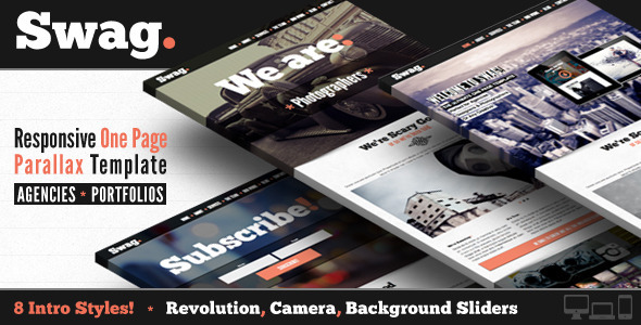 ThemeForest Swag One Page Parallax Portfolio Template 5842067