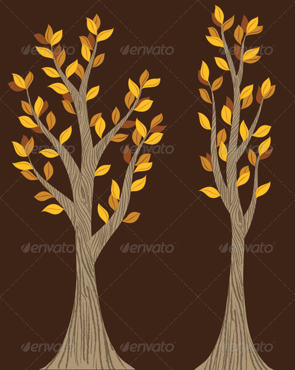 GraphicRiver Fall Trees 5873943