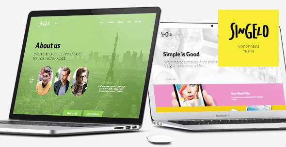 ThemeForest Singelo One Page WordPress Theme 5873946