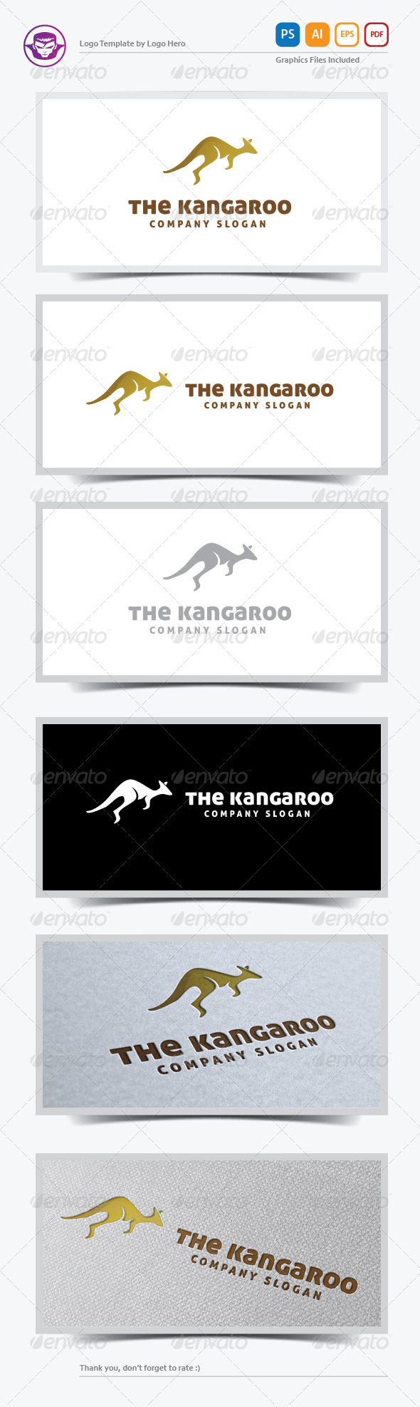 GraphicRiver The Kangaroo Logo Template 5874078