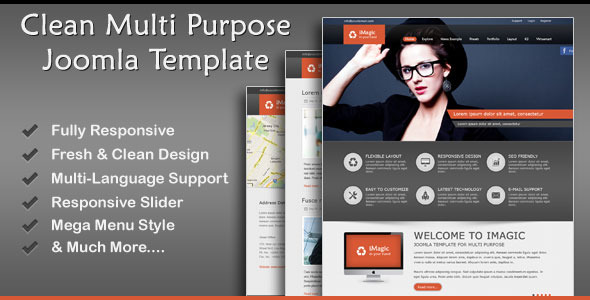 ThemeForest iMagic Responsive Multi-Purpose Joomla Theme 5817110