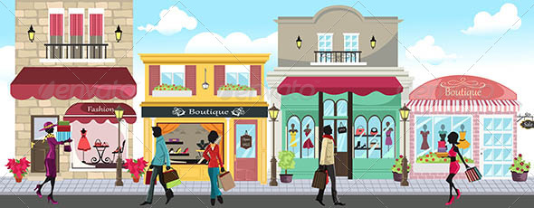 GraphicRiver Shopping People 5874649