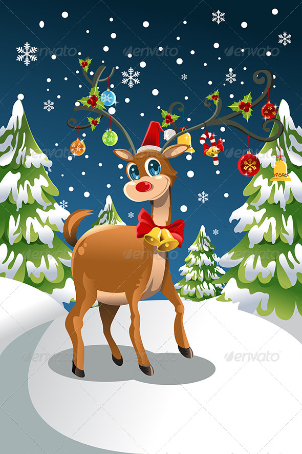 GraphicRiver Christmas Reindeer 5874751
