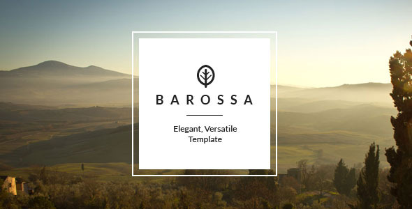Barossa - Responsive, Versatile One Page Template