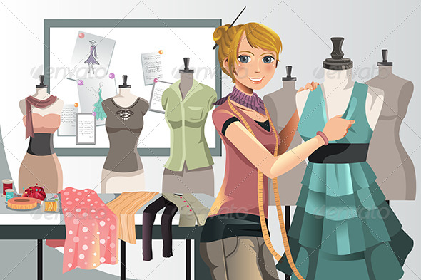 GraphicRiver Fashion Designer at Work 5874844