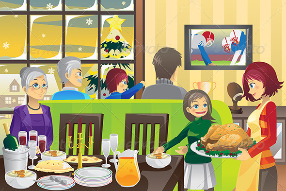 GraphicRiver Thanksgiving Family Dinner 5874966