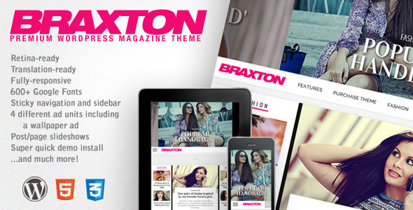 ThemeForest Braxton Premium Wordpress Magazine Theme 5874984
