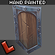 Low poly hand painted shield [Militia 03] - 3DOcean Item for Sale