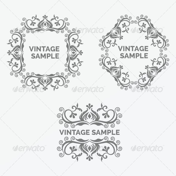 GraphicRiver Vintage Frame 34 5875543