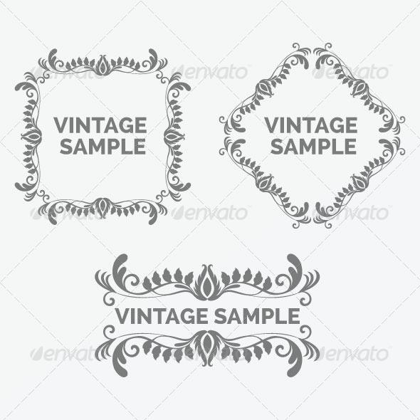 GraphicRiver Vintage Frame 37 5875566