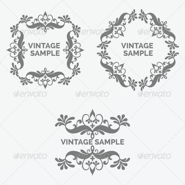 GraphicRiver Vintage Frame 38 5875570