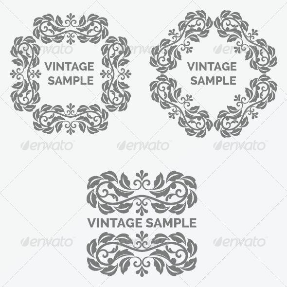 GraphicRiver Vintage Frame 40 5875607