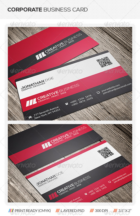 GraphicRiver Corporate Business Card 5875650