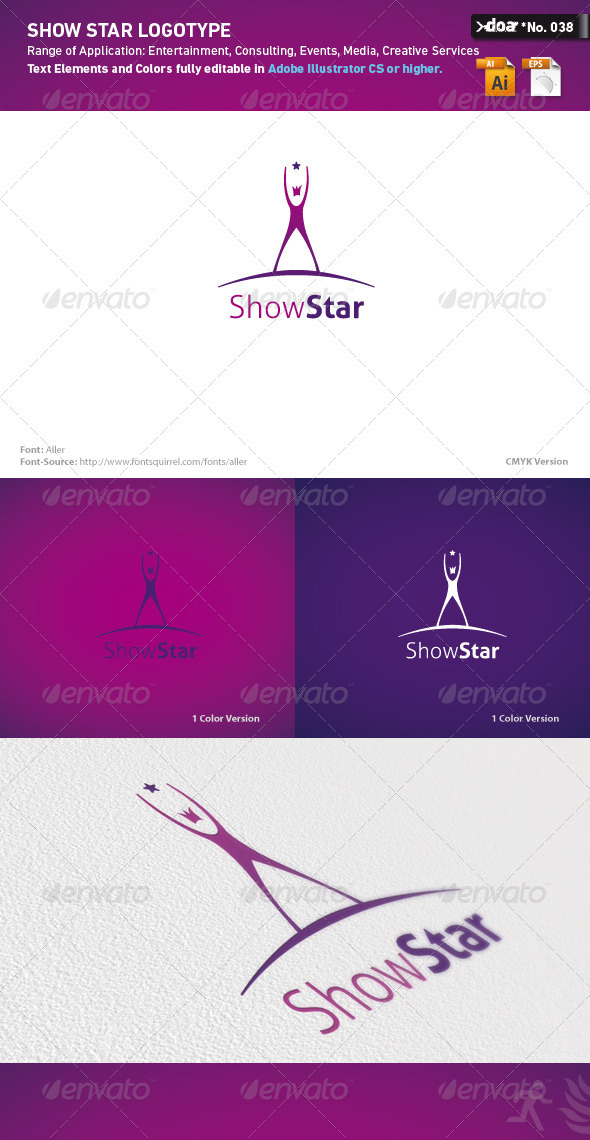 Show Star Logo Template - Humans Logo Templates