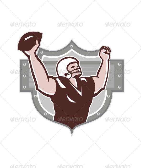 GraphicRiver American Football Receiver Touchdown Retro 5875844