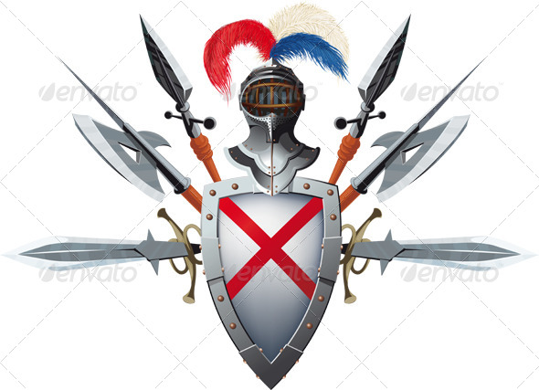 Knight's Mascot - Decorative Vectors