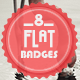 8 Flat Badges: Volume 1 - GraphicRiver Item for Sale