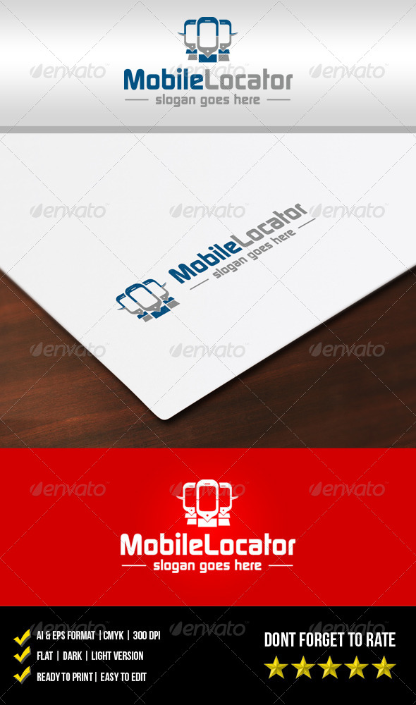 Mobile Locator Logo - Objects Logo Templates