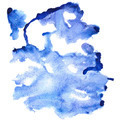 Blue watercolor abstract background - PhotoDune Item for Sale
