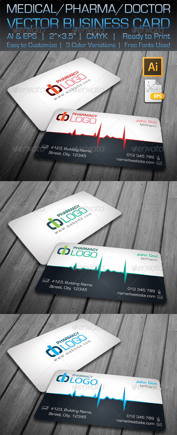 GraphicRiver Medical Pharma Doctor Business Card 5817245