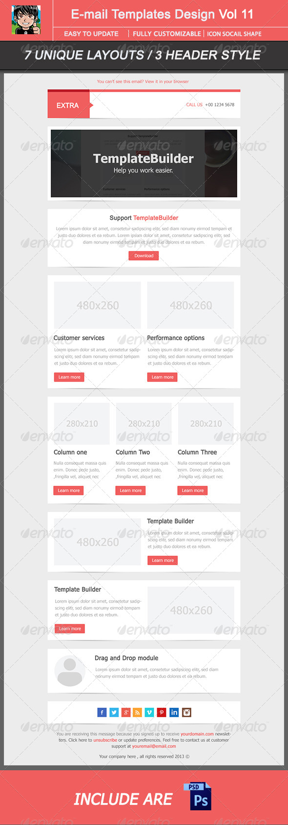 GraphicRiver Extra Email Template Design Vol 12 5876205