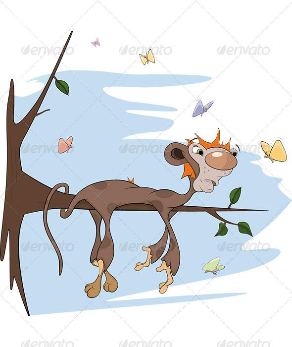 Sloth Monkey Cartoon