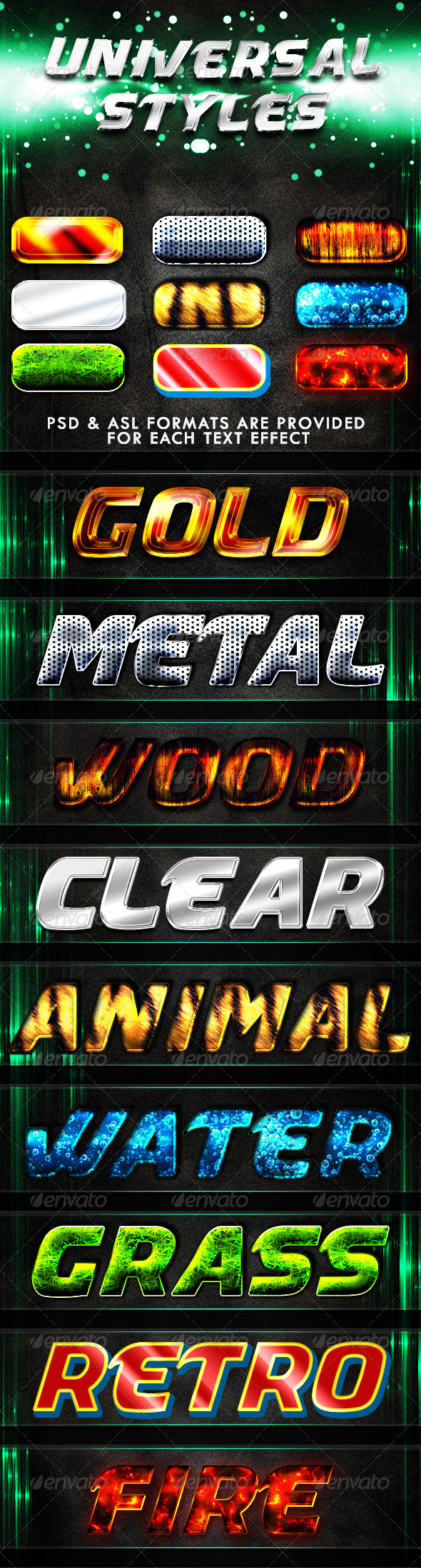 Universal Styles - Text Effects Styles