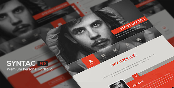Syntac - Flat Personal Portfolio Psd Template