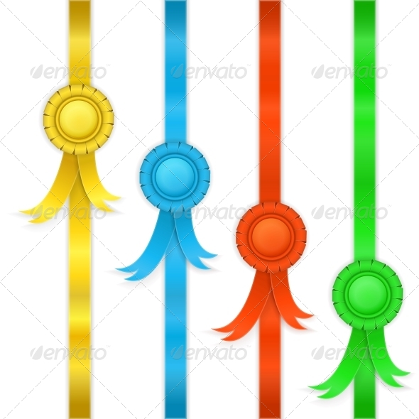 GraphicRiver Set of Ribbons Medals 5876864