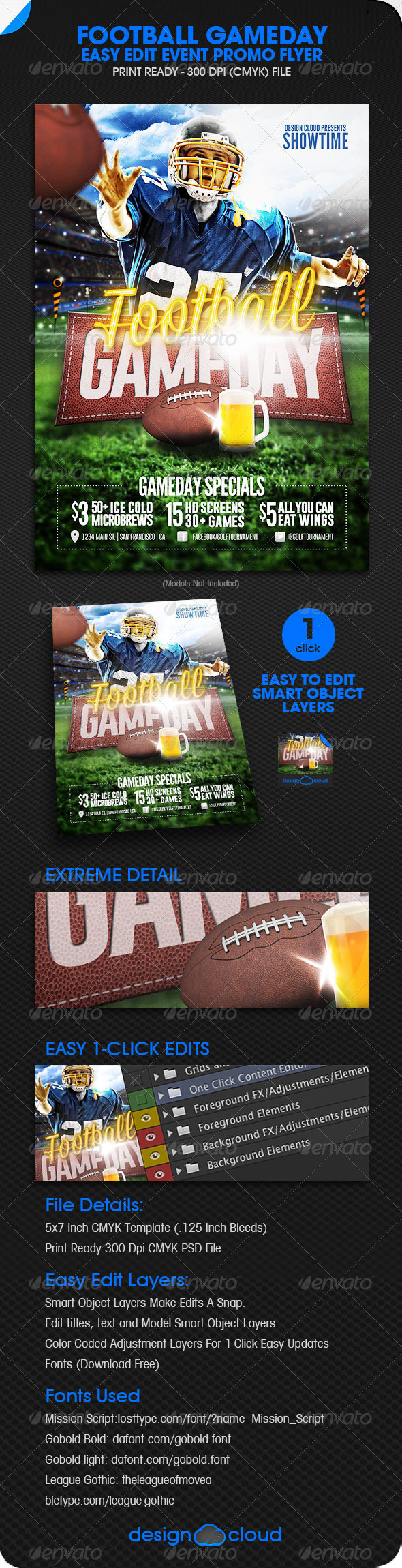 GraphicRiver Football Game Day Event Promo Flyer 5876912