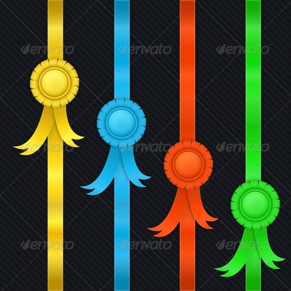 GraphicRiver Set of Ribbons and Medals 5876968