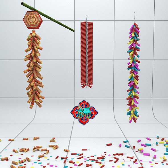Chinese traditional firecrackers - 3DOcean Item for Sale