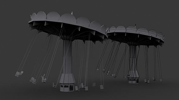 Carousel Low Poly Model